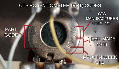 Reading Guitar Potentiometer Codes